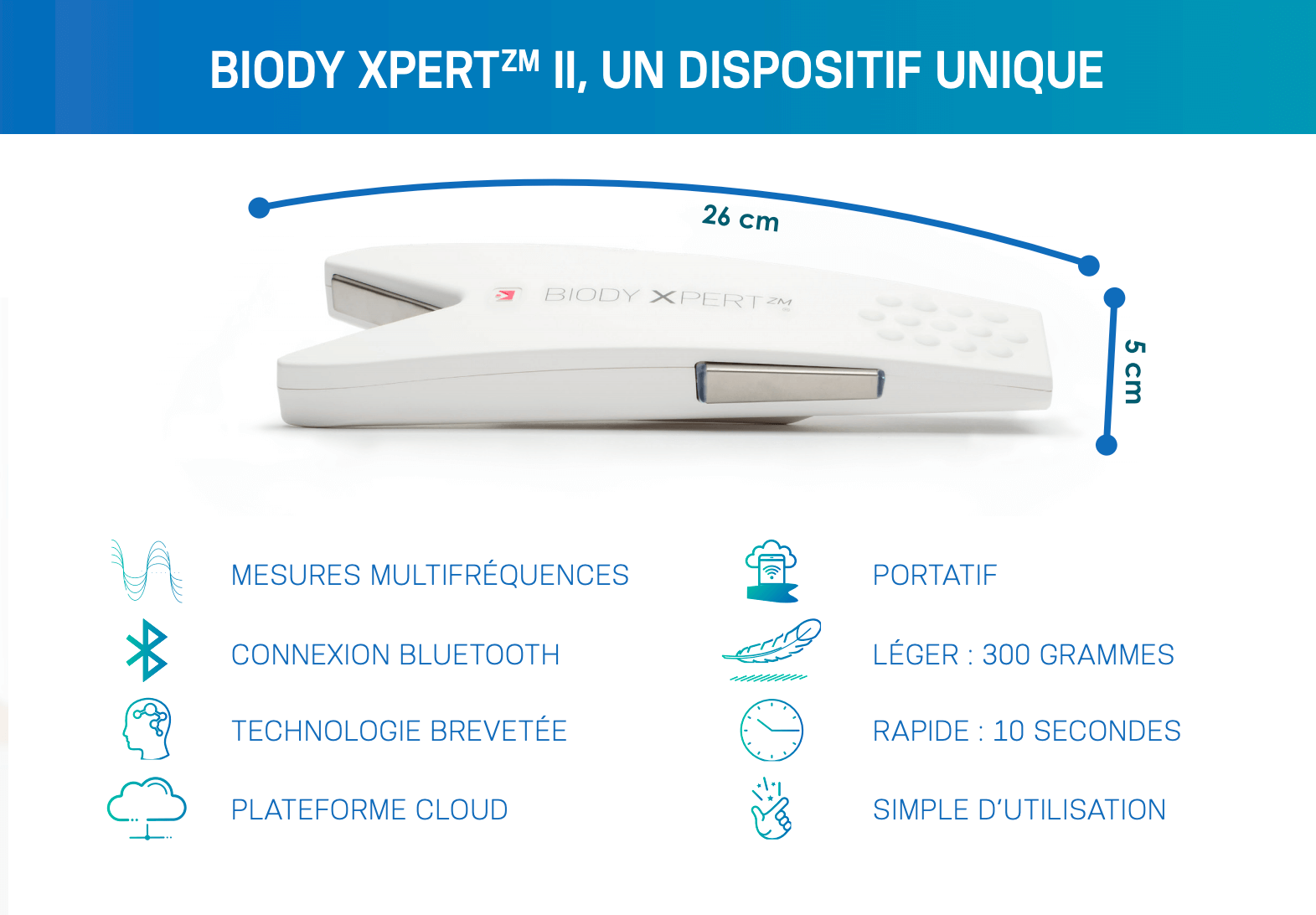 Impédancemètre Biody X pert